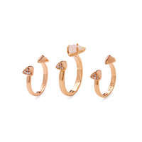 Kendra Scott Jewelry Women's Brennan Stackable Midi Rings Set - Pink