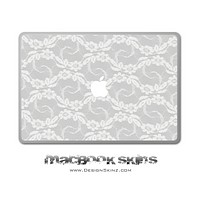 White Lace MacBook Skin