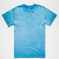 Volcom Washed Mens T-Shirt Blue  In Sizes