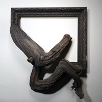 Cole - Antique Wood & Gesso Frame with Grafted Pine Tree Branch