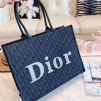 DIOR Popular Women Shopping Bag Leather Handbag Satchel Shoulder Bag