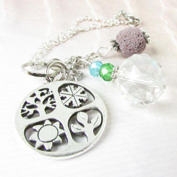 Crystal Rearview Mirror Charm with Diffuser