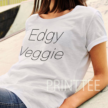 Veg tee, Edgy Veggie T-Shirt, Tee, Vegan T-Shirt, Vegan Clothing Vegan Tshirt, Vegetarian,Animal Rights, Vegan Top, Black top, Burgundy top.