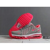 """NIKE"" Air Max 270 Trending Women Men Sports Running Shoes Sneakers Grey Rose Red I-SSRS-CJZX"