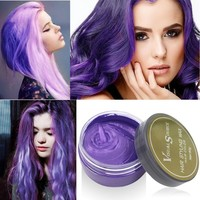 Hot Hair Dye Wax Hair Color One-time Molding Paste Silver Gray One-Time Hair Dye 5 Color