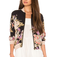 Spell & The Gypsy Collective Blue Skies Bomber in Black