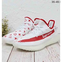 ADIDAS YEEZY BOOST 350 V2 Supreme & LV co-branded casual running shoes F-MLDWX