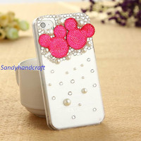 Cute iPhone5 Case, iPhone Case, bling iPhone 4 Case, iPhone 4s Case, iPod 5 Case, HTC one S Case, Galaxy s4 Case 4 color availabe