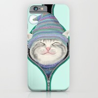 Cat in the zip iPhone & iPod Case by Tummeow