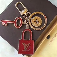 Fashion Lock Key Keyring Keychain