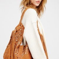 Free People Clyde Studded Suede Hobo