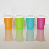 Tupperware Bell Tumbler Sippy Cups with Seals Set of 4