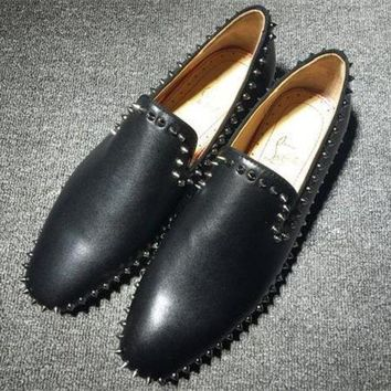 DCCK2 Cl Christian Louboutin Loafer Style #2395 Sneakers Fashion Shoes