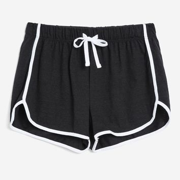 Sporty Solid Runner Shorts - Clothing