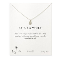 """Dogeared All Is Well Hamsa Sterling Silver Reminder Boxed 16"""" Necklace"""
