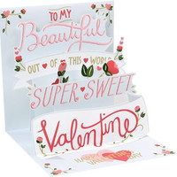 Valentine Hearts Popup Card