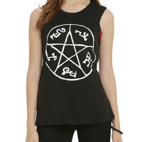 Supernatural Devil's Trap Girls Muscle Top