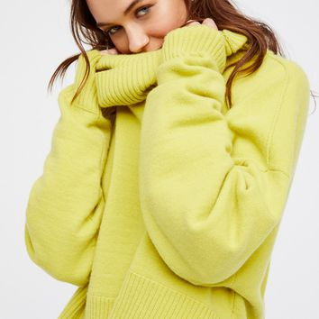 Free People Look Both ways Cashmere Pullover