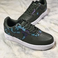 Nike Air Force 1 Lv8 Af1 Low Camo Green 823511-00811 Sport Shoes - Sale