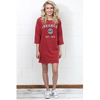University of Arkansas T-Shirt Dress {Razorback Red}