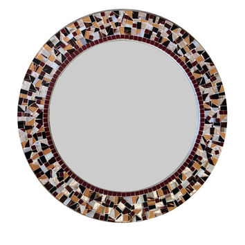 "SALE - Round 24"" Mosaic Wall Mirror"