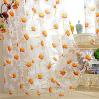 Sunflower Design Beads Accent Curtain
