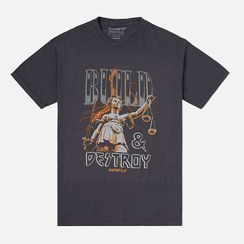 Lady Justice T Shirt Cool Grey
