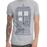 Doctor Who TARDIS Quotes T-Shirt
