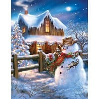 Springbok Puzzles The Country Christmas Jigsaw Puzzle - Puzzle Haven