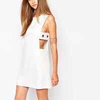 Missguided Eyelet DetailShift Dress