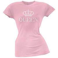 Queen Light Pink Soft Juniors T-Shirt