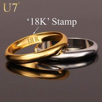 """Rings Gold s With """"18K"""" Stamp Quality Real Gold Plated / Classic"""