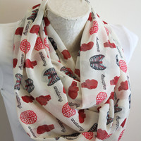 Anatomy Scarf, Anatomical Heart Infinity Scarf, Human Heart Brain Ribcage  Medical School Gift, Women Accessory, Christmas Gift For Her
