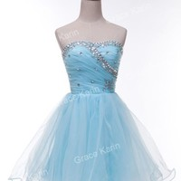 Clearance Sexy Short Strapless Graduation Ball Briesmaid Evening Party Dresses