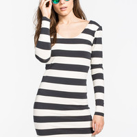 Volcom Locked Out Dress Black/Grey  In Sizes
