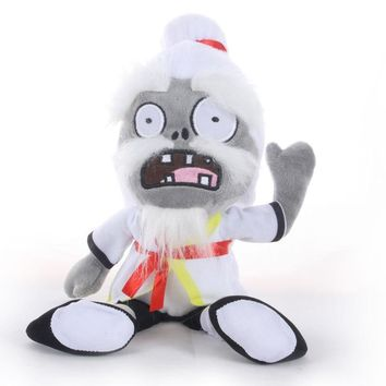 30cm Plants VS Zombies Plush Toys PVZ 2 Kung Fu Zombie Plush Stuffed Toys Doll Soft Animals Toy for Children Kids Gifts