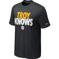 Pittsburgh Steelers Nike Troy Polamalu Knows Black T-Shirt - Official Online Store