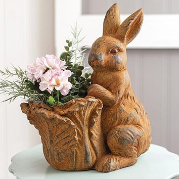 Rabbit with Cabbage Planter
