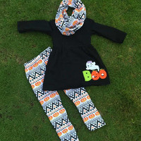 Girls Fall Outfit, Girls Aztec Outfit, Aztec Leggings, Toddler Infinity Scarf, Girls Halloween Outfit, Girls Infinity Scarf, Girls Tunic