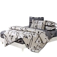 Papa&Mima Bedding sets 6pcs duvet doona quilt fitted cover ned sheet 100% cotton king queen full twin size bedclothes linens