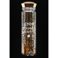 """Lemme Drink About It"" Water Bottle (Rose Gold)"