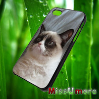Grumpy Cat/MISSUMORE,Accessories,CellPhone,Cover Phone,Soft Rubber,Hard Plastic,Soft Case,Hard Case,Samsung Galaxy ,iPhone/19aug13
