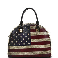 Vintage American Flag Studded Purse