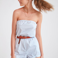 Kimchi Blue Palm Beach Strapless Romper   Urban Outfitters