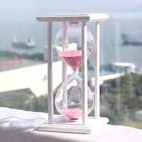 30 Minute sand Hourglass Countdown Timing 14.5*8*8cm Modern Wooden Sandglass Sand Clock Timer Home Decoration reloj de arena