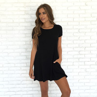My All In All Jersey Shift Dress In Black