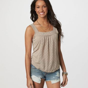 AE Paneled Lace Tank | American Eagle Outfitters