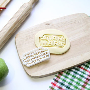 Star Wars Logo Cookie Cutter StarWars Cookie Cutter Cupcake topper Fondant Gingerbread Cutters - Made from Eco Friendly Material