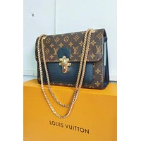 LV Louis Vuitton Popular Women Leather Tote Handbag Shoulder Bag Crossbody