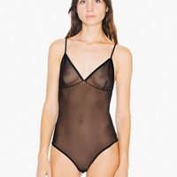 Sheer Mesh Sofia Bodysuit | American Apparel